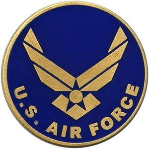 US Air Force Bronze Medallion Enameled