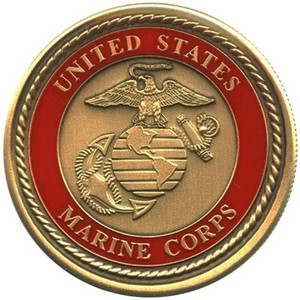 US Marines Bronze Medallion Enameled