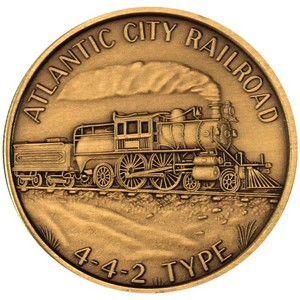 Train Atlantic City Railroad 442 Type Bronze Medallion