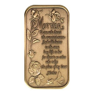 Mother Poem Bronze Bar