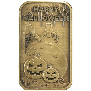 Happy Halloween Scary Bronze Bar