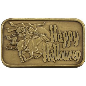Happy Halloween Headless Horseman Bronze Bar