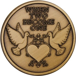 When Two Become One Doves Bronze Medallion