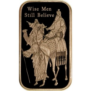 2014 Wise Men Still Believe Bronze Bar Enameled