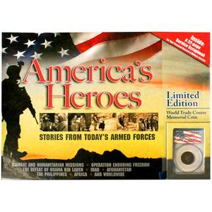9-11 Americas Heroes Limited Edition Book by Whitman Publishing with Memorial Coin