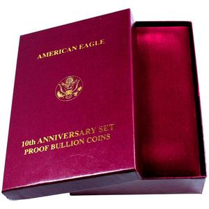 OGP Box for American Eagle 10th Anniversary Set Proof Bullion Coins