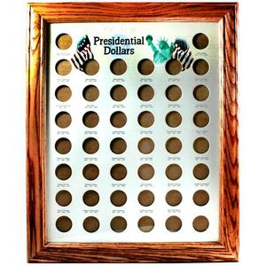 Presidential Dollars Oak Frame