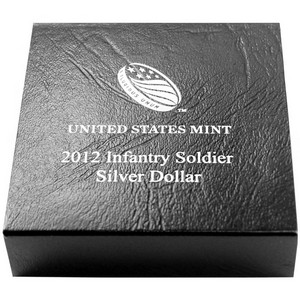 2012 OGP Box for United States Mint Infantry Soldier Proof Silver Commemorative Dollar