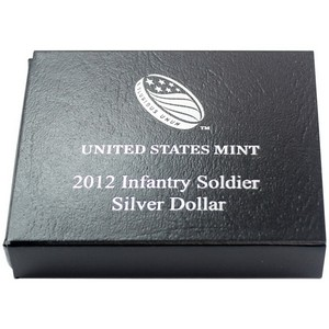 2012 OGP Box for United States Mint Infantry Soldier Uncirculated Silver Commemorative Dollar