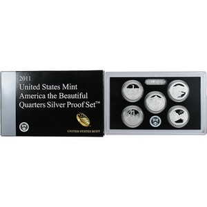 2011 S 5pc Silver Quarter Proof Set