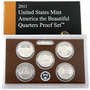 2011 5pc Clad Quarter Proof Set