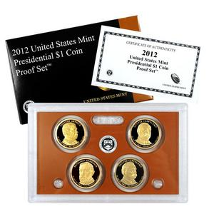2012 S 4pc Presidential Dollars Proof Set