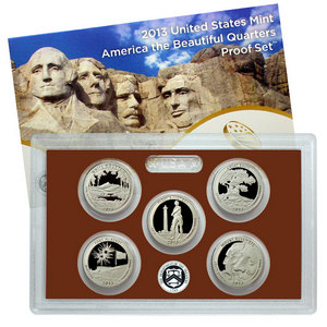 2013 S 5pc Clad America The Beautiful Quarter Proof Set