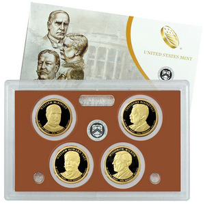 2013 S 4pc Presidential Dollars Proof Set