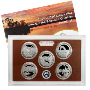 2014 S 5pc Clad America The Beautiful Quarter Proof Set