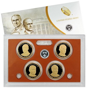 2014 S 4pc Presidential Dollars Proof Set