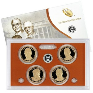 2015 S 4pc Presidential Dollars Proof Set