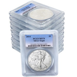 2014 Silver American Eagle MS70 PCGS 10pc