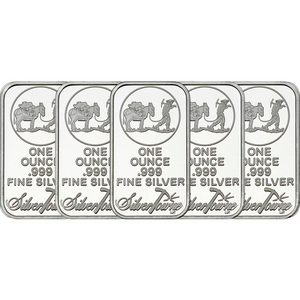 SilverTowne Trademark 1oz .999 Silver Bar 5pc