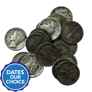 20pc Circulated Silver Mercury Dime Grab Bag