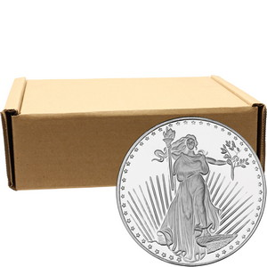 SilverTowne Trademark Saint-Gaudens Replica 1oz .999 Silver Medallion 500pc