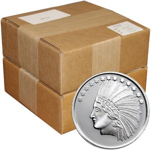 SilverTowne Trademark $10 Gold Indian Replica Struck in .999 Silver Medallion 1000pc