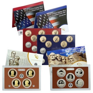 2013 Mint Set with 2013 Clad Quarter Proof Set and 2013 Presidential Dollar Proof Set