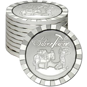 SilverTowne Stackables™ Trademark Prospector 1oz .999 Silver Medallion 10pc