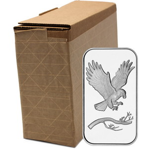 SilverTowne Trademark Eagle 1oz .999 Silver Bar 100pc