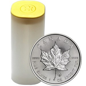 2015 Canada Silver Maple Leaf 1oz BU Roll 25pc