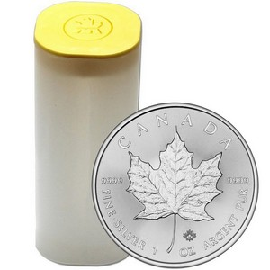 2016 Canada Silver Maple Leaf 1oz BU Roll 25pc