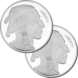 2016 Buffalo Replica 5oz .999 Silver Medallion 2pc