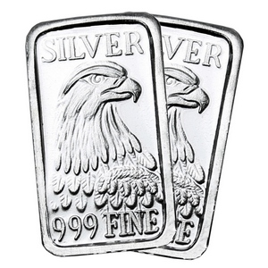 Eagle 1 Gram .999 Silver Bar 2pc