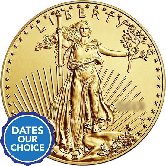 Gold American Eagle 1oz Date Our Choice