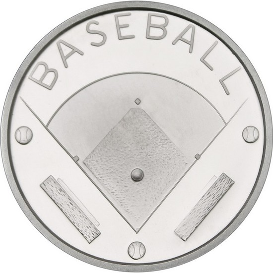 Baseball 1oz .999 Silver Medallion