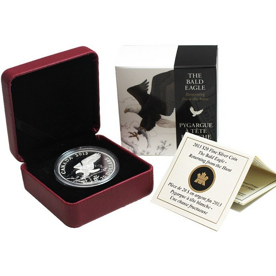 2013 Canada Silver Bald Eagle Returning from the Hunt 1oz Proof