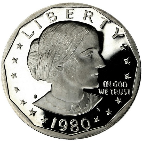 1980 S Susan B Anthony Dollar PF