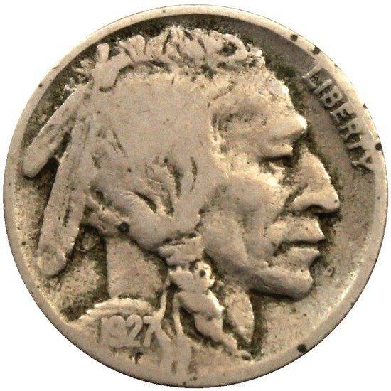 1927 D Buffalo Nickel F/VF