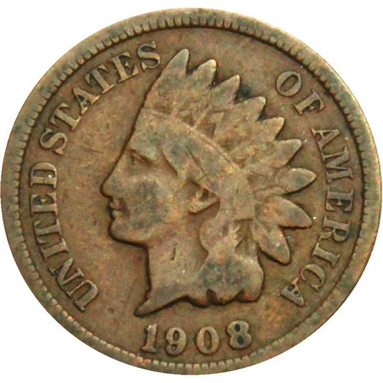 1908 Indian Head Cent G/VG