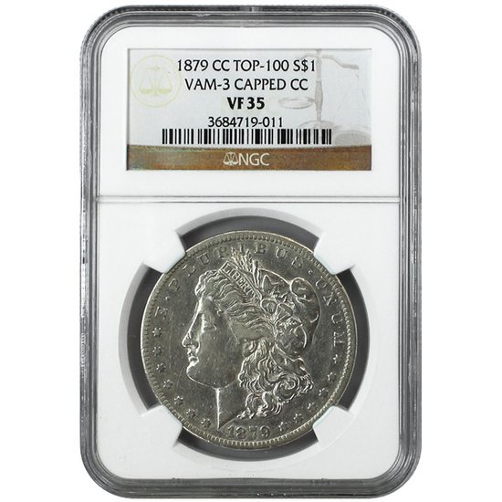1879 CC Morgan Silver Dollar VF35 NGC Brown Label
