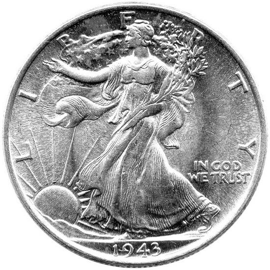 1947 D Silver Walking Liberty Half Dollar BU