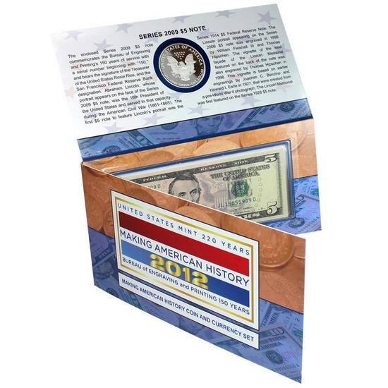 2012 Making American History Coin & Currency Set