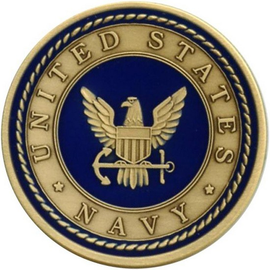 US Navy Bronze Medallion Enameled