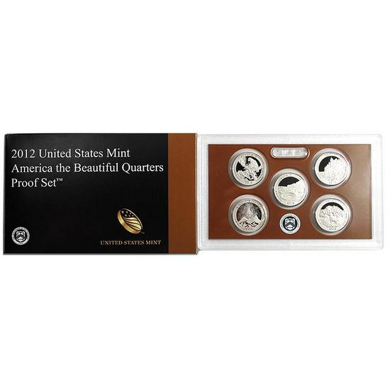 2012 5pc Clad Quarter Proof Set