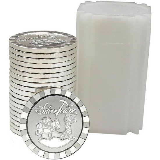 SilverTowne Stackables™ Trademark Prospector 1oz .999 Silver Medallion in Tube 20pc