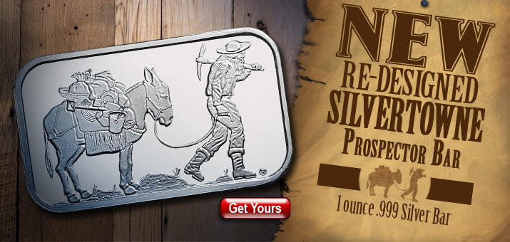 Updated Prospector Silver 1oz Bar