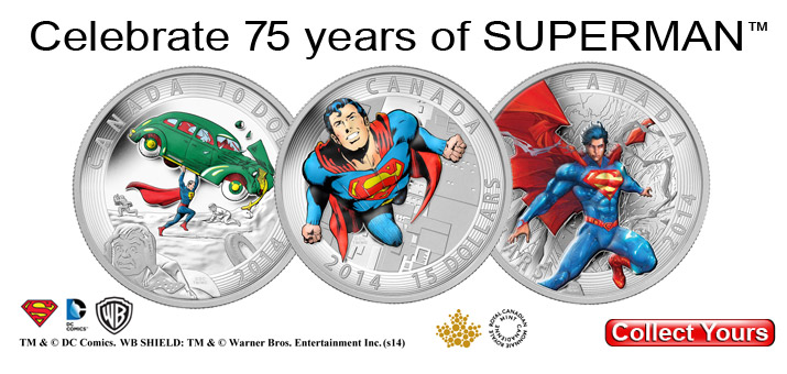Iconic Superman™ Comic Book Covers Silver Coins