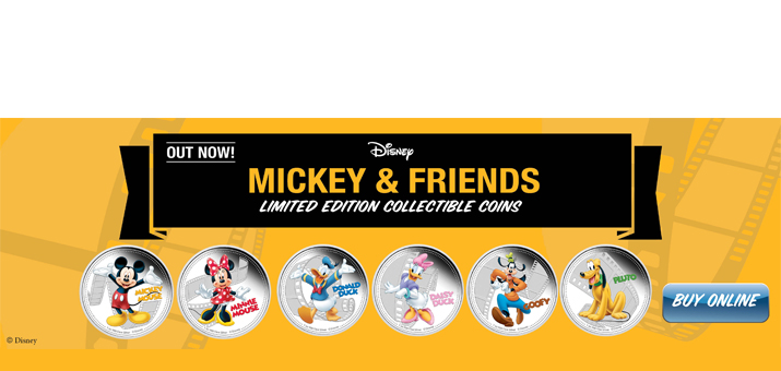 2014 Niue Silver Disney Characters Mickey Mouse and Friends Limited Edition 1oz Colorized PF in OGP 6pc Set