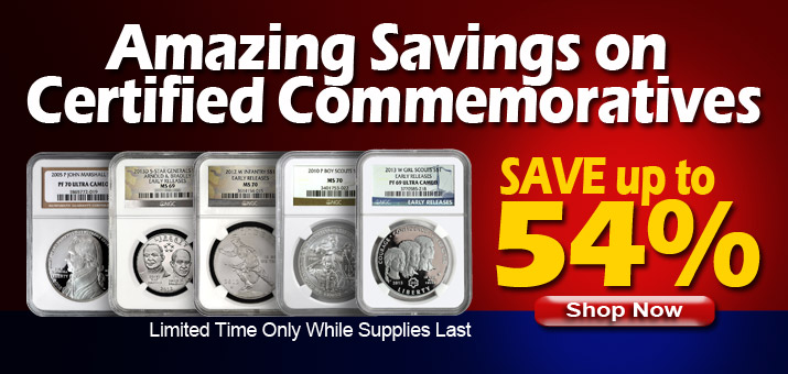 Featured Commems on Sale Now!
