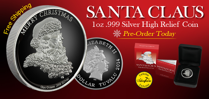Pre-Order 2014 Santa Claus Silver 1oz HR Proof Coins
